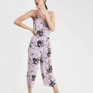 NWT AE Lilac Strappy Culotte Jumpsuit